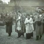 Pogrzeb na strym cmentarzu katolickim lata-50. XX w.